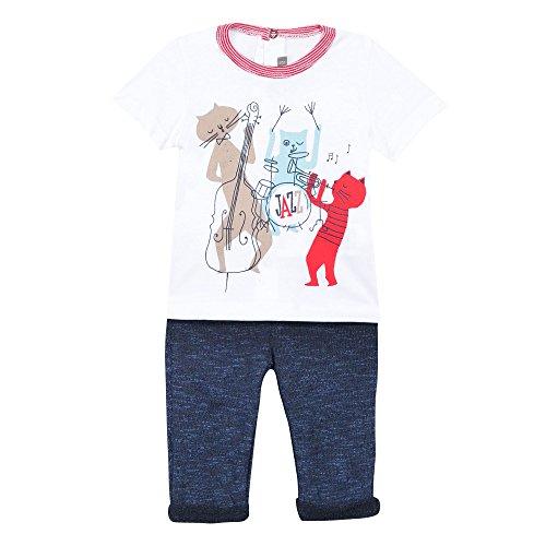 Catimini Baby-Jungen Unterwäsche-Set CJ36051 Weiß (Blanc 01) 18-24 Monate