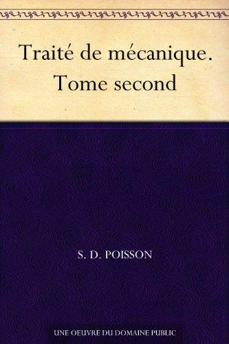 Couverture du livre Traité de mécanique. Tome second