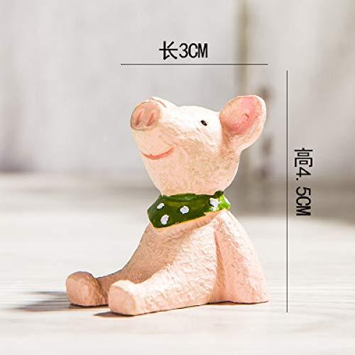yueyue947 Himmel und Stern betrachten Künstliche Tierfiguren Miniaturen Harzdekoration/Weihnachtshaus Niedliches Dekor Ornament- Figuren/I