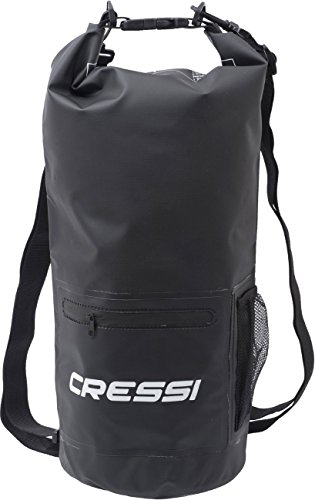 dry sac Cressi Dry Bag with Zip Wasserdichte Taschen mit langem verstellbaren Schulterriemen, Für Tauchen, Bootfahren, Kajak, Angeln, Rafting, Schwimmen, Camping und Snowboarden