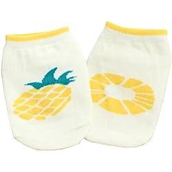 2 pares de piña [] para niños pequeños calcetines de algodón calcetines para bebé cabrito del niño, 2-4 años
