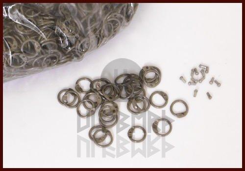 RRR 1 kg lose runde Ringe zum Vernieten, ID 8mm, unbehandelt LARP Mittelalter