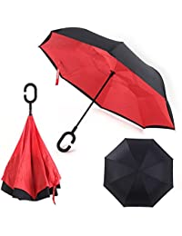 MSE *OFFER FREE 1 MAKEUP KIT WITH UMBRELLA* Cute C Handle Double Layer Umbrella Women New Style Paraguas For Parasol... - B0743F5FWY