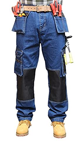 Prime Men's Cargo Combat Work Trousers Tuff Multi Pocket Military Army Trousers WRK-02 (wk-009, 36W X