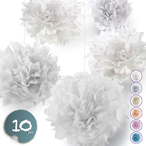 Seidenpapier PomPoms 10er Set