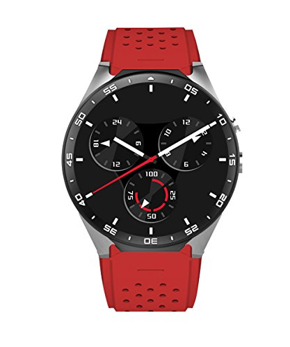 KW88 3G Smartwatch Intelligente Orologio, contapassi cardiaca GPS Rate Monitor, Android 5.1 OS, Quad Core sostegno 2.0MP Bluetooth SIM WiFi, Google Map, Google Play