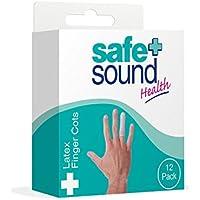SAFE & Sound Fingerüberzug, Latex, 12verschiedene Größen preisvergleich bei billige-tabletten.eu