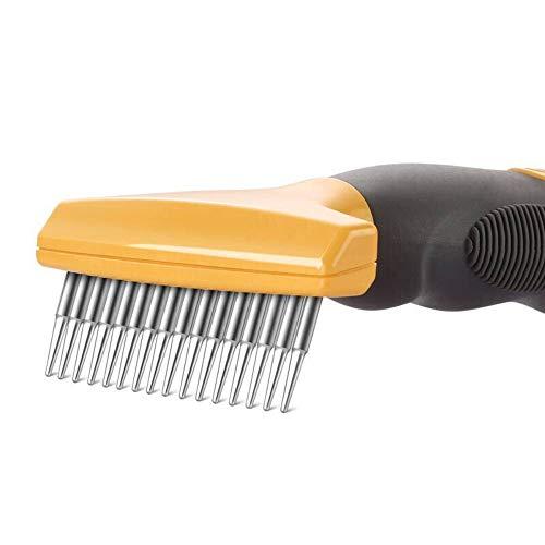 lle Katzen- / Hundehaarpflegelbürste - Shedding & Dematting Tool - Undercoat-Rechen - Katze/Hund - Detangling-Bürste - Mittlere und Lange Haare kämmen ()