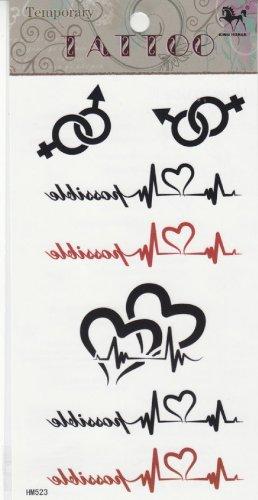 2013 nouvelle conception nouvelle version tatouage temporaire étanche ECG -clé totem faux tatouages