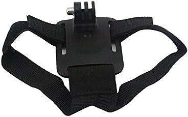 J Cycling Adjustable Helmet Strap Belt Mount Adapter for GOPRO Hero 5 Black