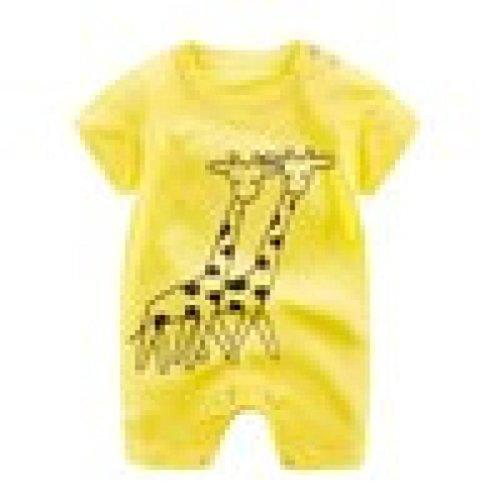 g, Baby Born Jungen Mädchen Karikatur Spielanzug Overall kletternde Kleidung (Gelb, 18-24 Monate) (Kleine Meerjungfrau Kleider Für Kleinkinder)