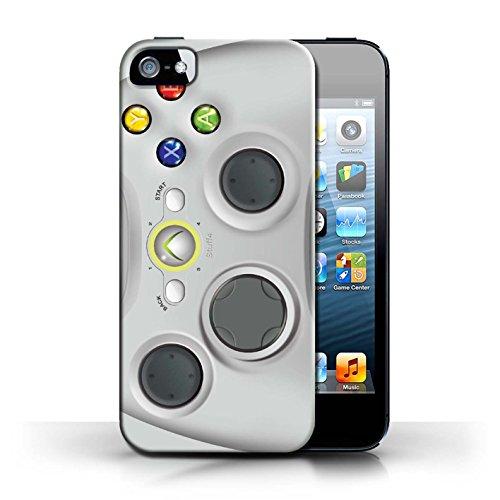 Imprimé Protector Case Cover / Case / Coque for Apple iPhone 5/5S / Blanc Xbox 360 motif / Console (jeux vidéo) Collection