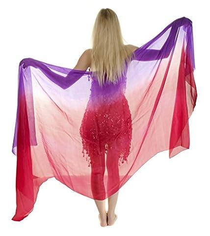 Turkish Emporium Belly Dance Hand Dyed Silk Veil For Belly