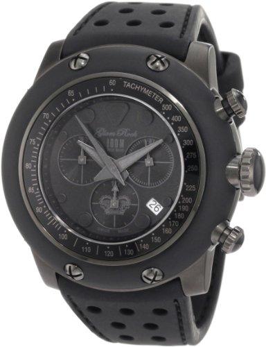 Glam Rock GR90105 - Reloj de Pulsera para Mujer con cronógrafo y Esfera Negra, Silicona, Color Negro