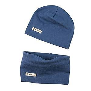 LACOFIA Conjunto de Sombrero y Bufanda de Cuello para bebé ninos y Ninas Gorro de algodón Recien Nacido Sombreros de Punto y pañuelos de Cuello Infantiles 15