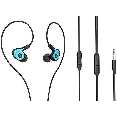 Auriculares, Venstone K62en oreja Auriculares deportivos para correr Gimnasio con micrófono y volumen controlnoise aislamiento earbudsfor iPhone, Android, ordenador portátil, Tablet,
