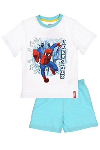 Pantaloncini pigiama spiderman bianco 4 anni