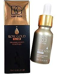 Weisy Sérum Eclat pour Visage Primer Base 24K Gold Rose Infusé Essentielle pour la Peau Avant Maquillage 15ml