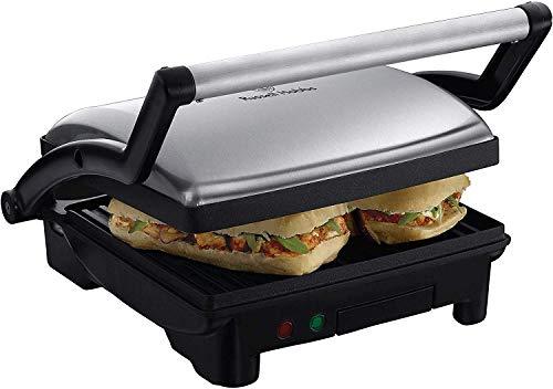 Russell hobbs 17888-56 scalda panini/grill 3 in 1, 1800 watt, 1 sola temperatura senza termostato, acciaio inossidabile, nero/argento