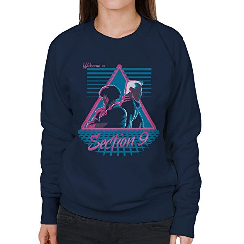 Welcome To Section 9 Ghost In A Shell Women's Sweatshirt Navy blue