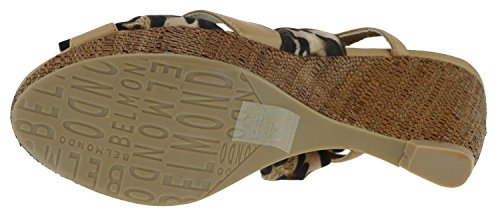 Belmondo Keilsandaletten 225680/M braun Leder Textil Braun/Cuoio