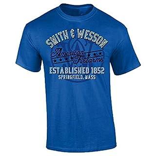 Smith & Wesson American Schusswaffen T-Shirt Größe L königsblau