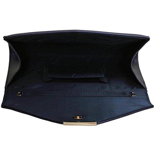 Xardi London-Buste da donna in finta pelle, per abiti da damigella d'onore, tacco basso, da donna Blu (Blu)