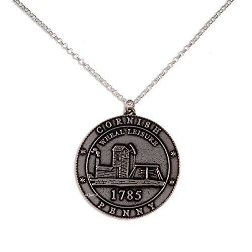 Poldark Cornish Tin sommelier Touchlines ocio colgante collar de plata esterlina