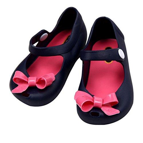 Hunpta Niedliche Mädchen Baby Kinder detaillierte Jelly Bowknot Fisch Mund Sandalen Stiefel Schuhe (Alter: 1-1.5Y, Rosa) Dark Blue