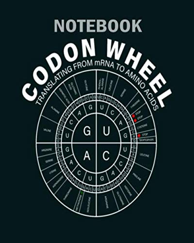 Notebook: mrna codon wheel - 50 sheets, 100 pages - 8 x 10 inches