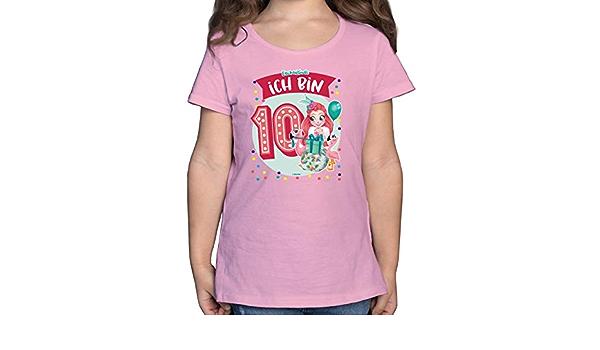 Fanci Flamingo Enchantimals M/ädchen Shirtracer Ich Bin 3! M/ädchen Kinder T-Shirt