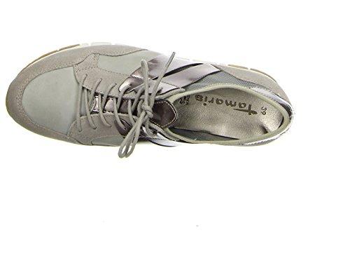 Tamaris 23615-28 238 Damen Sneaker Lack- und Stretch-Einsätze leichte Laufsohle - 5