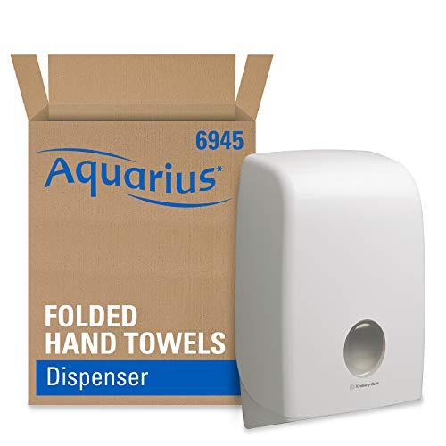 Aquarius 6945 Spender für Formathandtücher, 1 liter, 39,9 cm (L) x 26,5 cm (B) x 13,6 cm (T), 1 x 1 Spender, weiß