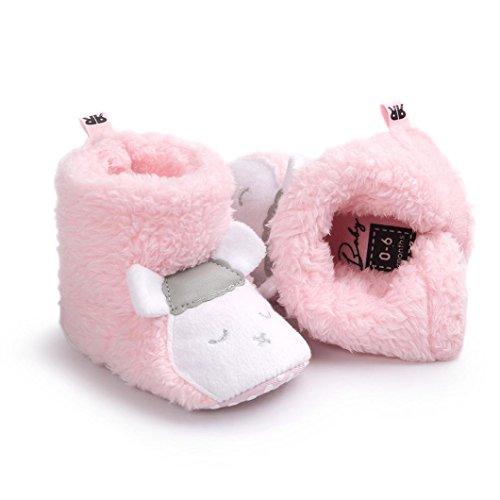 Clode® Kleinkind Mädchen Reizenden Schafe Modellierung Warm Halten Baumwolle Schneestiefel Weiche Sohlen Krippe Schuhe Stiefel Winterstiefel Rosa