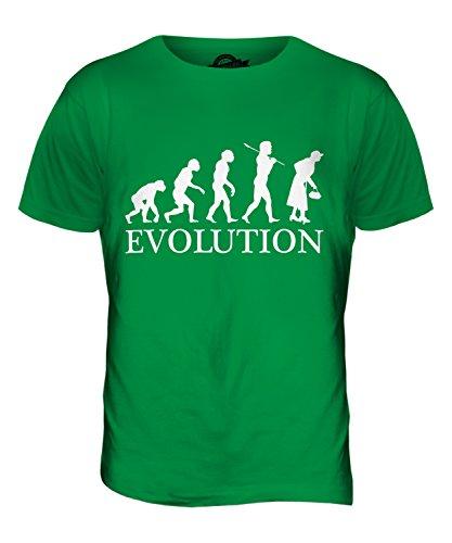 CandyMix Donna Anziana Evoluzione Umana T-Shirt da Uomo Maglietta Verde