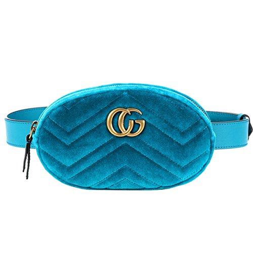 FXTKU 2018 Damen Geldbörse Mini Handy Tasche Stern mit dem gleichen Absatz samt Brustbeutel samt ovalen Taschen umhängetasche damen klein handtasche(Himmelblau)