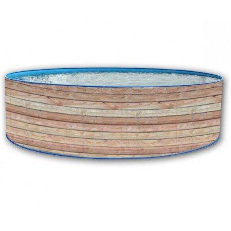 Piscine Circulaire Hors sol 400x90 Paroi Rigide Laquée Pinus Promo TOI