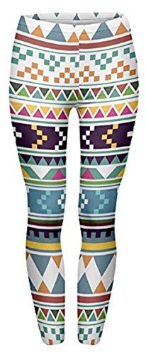 Strumpfhosen Hosen Fitness Damen in voller Länge Stretchy Leggings Gym Running Slim Sport Base Layer Hosen Minzhi (Durchschnittliche Hose Länge)