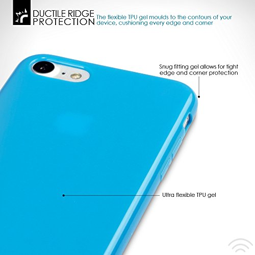iPhone 8 / iPhone 7 Case, Terrapin TPU Schutzhülle Tasche Case Cover für iPhone 8 Hülle Matt Rot Blau
