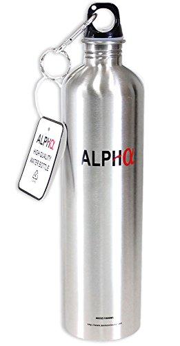 Preisvergleich Produktbild Deluxe Silver Color 40oz Stainless Steel Water Bottles - Bpa Free