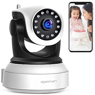 Apeman WLAN Kamera 720P IP Kamera WiFi Überwachungskamera mit Nachtsicht, Bewegungserkennung,2 Wege Audio,Smart Home Kamera,schwenkbar und unterstützt Mikro-SD KarteProduct