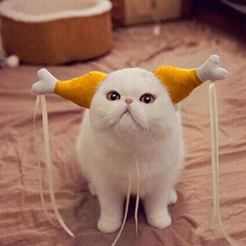 szyzl88 Halloween Pet Cosplay Kostüm Haustier Huhn Katzen und Hunde Kopfschmuck Huhn Haarband Hochzeit Lustige ()