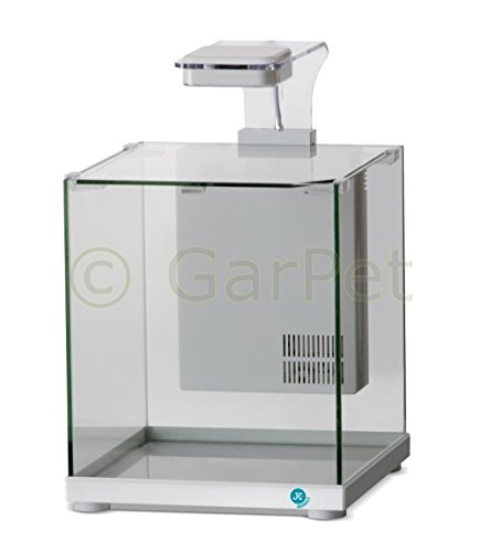 Nano Cube LED Würfel Garnelen Aquascaping Komplett Aquarium Set Filter Lampe (weiß)