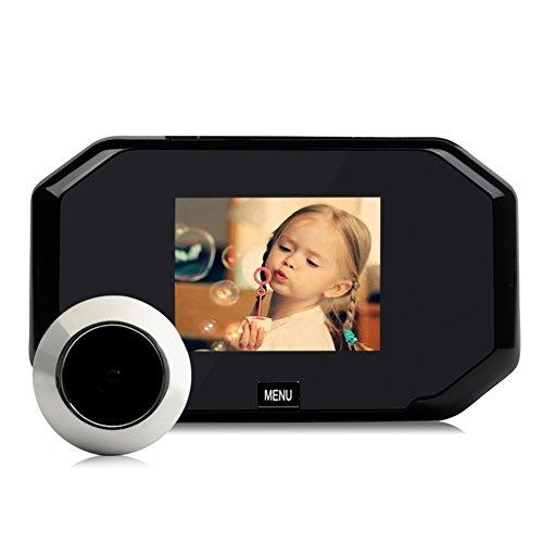 prettygood7 Digitaler Türspion mit LCD-Display und Klingelkamera, 7,6 cm (3 Zoll), 145 Grad