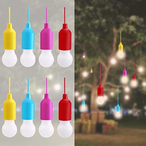 Lampop 8pc Tragbare LED-Lampe,LED Campinglampe, Lamping LED Leuchte,mit Zugschalter für Wandern, Angeln, Schreibtisch, Camping, Garten, BBQ - Bar Höhe Schreibtisch