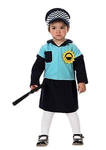 Atosa-10484 Disfraz Policía, Color Negro, 6 a 12 Meses (10484)