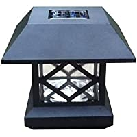 JHS Solar post Cap Luce Deck Fence Monte esterna Giardino recinto della lampada