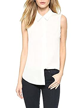 PengGeng Camisetas Para Mujer Blusa Sin Mangas Chaleco De Gasa Talla Grande