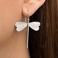 Pendientes de la libélula de plata, joyería de la libélula, regalo para las mujeres, Pendientes hipoalergénicos, statement pendientes, regalo de la libélula, pendientes del insecto