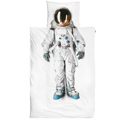 Snurk - Juego de ropa de cama (funda de edredón y funda de almohada), diseño de astronauta